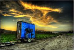 Throwdown Response (Extra Medium) Tags: sunset fruit bravo scenery toilet wc hdr portapotty somis mobiletoilet 180000views