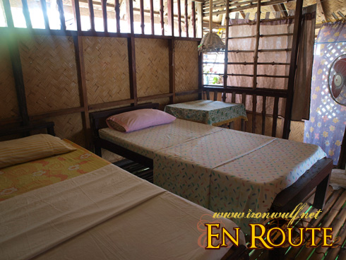 Twin beds at the first floor