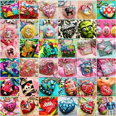 36 of my latest creations (stOOpidgErL) Tags: glitter diy necklace fdsflickrtoys candy sweet handmade mosaic craft jewelry plastic sprinkles bling resin pendant stoopidgerl