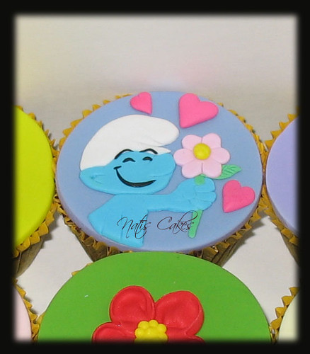 Smurf Themed Cupcakes