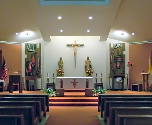 Saint Patrick Roman Catholic Church, in Saint Louis, Missouri, USA - sanctuary