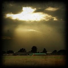 Waterland sunburst (Smoothfoote) Tags: sky cloud sunburst fen cambridgeshire waterland memoriesbook