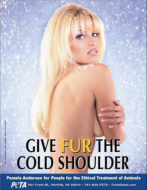 Pamela Andersen anti-fur campaign