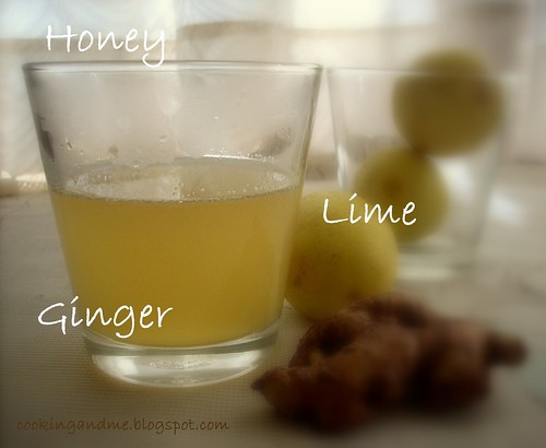 Honey Lime  Ginger Drink by Nags The Cook.