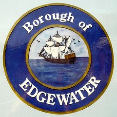 Borough of Edgewater NJ Seal (features the Half Moon, Henry Hudson's 1609 Ship) (jag9889) Tags: newjersey ship nj seal hudsonriver 2008 edgewater halfmoon 1894 bergencounty 07020 zip07020 y2008 jag9889