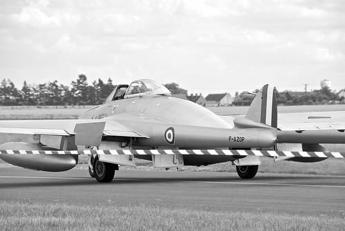 Warbird picture - Melun 2008 - De Havilland DH-100 Vampire taxiing
