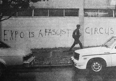 Fascist Circus (laniwurm) Tags: vancouver graffiti expo86 fearlesscity