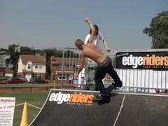 Balance now... (kiteguyii) Tags: suffolk skateboarding action extreme pipe july competition half fest 2008 felixstowe ipswich sponsor 27th edgeriders xtremefest edgeriderscom