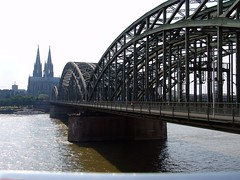 Hohenzollernbrcke (Joachim S. Mller) Tags: bridge church train germany deutschland cathedral dom gothic kathedrale kirche cologne eisenbahn railway kln brcke rhine rhein nordrheinwestfalen klnerdom gotisch hohenzollernbrcke hohedomkirchestpeterundmaria altstadtnord domkirchestpeterundmaria geo:lat=5094110700 geo:lon=696872700