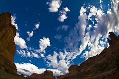 Clouds (Michael Zahra) Tags: blue sky orange usa rock stone clouds america utah fisheye moab archesnationalpark 10mm mg3881ps001