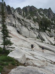 The granite portion of the trial above Snow Lake
