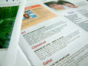 Listed in Straits Times