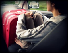 the  first day of the rest of your life (naeledra_anomis) Tags: red girl car luggage alter alina herestherestofyourlife