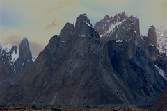 The Trango Towers (sylweczka) Tags: pakistan mountains holidays glacier karakoram baltoro verticaldrop trangotowers baltoroglacier sylweczka