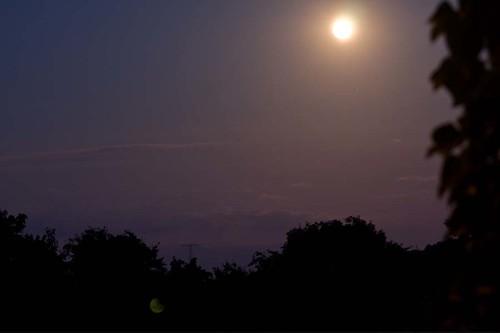 Nachtaufnahme Mondlicht