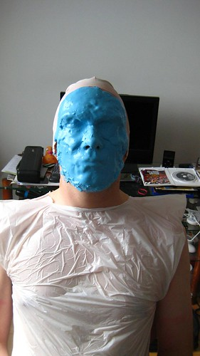 Face Covered in Alginate