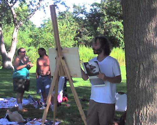 Duncan paints