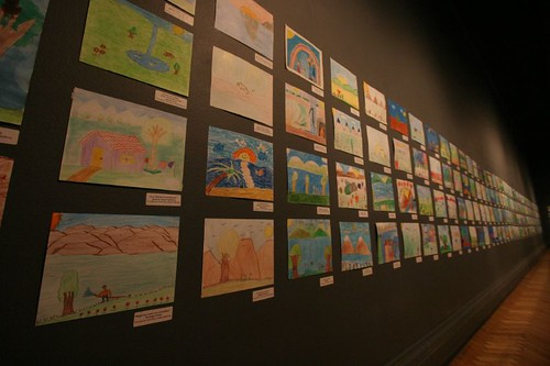 Kid's paintings. Bellas Artes Museum, Santiago
