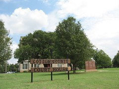 Cotton County Courthouse (carletaorg) Tags: courthouse nrhp veteranmemorial oklahomahistoricalmarker railroaddepotcemetery