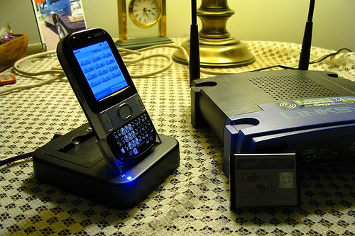 Palm Centro and charging cradle