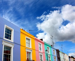 Candy colored Portobello Road (JenniPenni) Tags: houses sky london colors fairytale clouds candy repetition 365 portbellomarket iwanttoliveheresobad