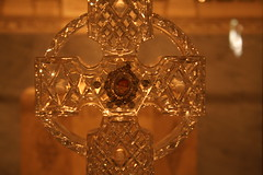 Relic of St. Patrick (marylea) Tags: nyc newyorkcity ireland vacation irish newyork church saint catholic cross cathedral crystal manhattan faith stpatrickscathedral patrick stpatrick visiting waterford romancatholic relic nycity saintpatrick naomh may28 waterfordcrystal pdraig saintpatrickrelic