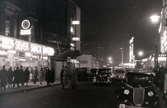 Cranbourn Street, London, 5 November 1955 (allhails) Tags: london leicestersquare stockpot ca15 cranbournstreet silversnackbar