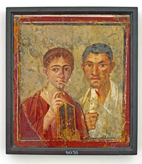 Mr and Mrs Paquius Proculus (ClydeHouse) Tags: portrait museum roman pompeii napoli naples museo fresco wallpainting pompei affresco byandrew museoarcheologico museoarcheologiconazionale piazzamuseo paquiusproculus