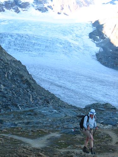 Eliane arrivant au Col des Otanes