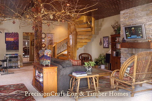 Locatd in Westcliffe, Colorado | Custom Milled Log Home | By PrecisionCraft Log Homes,house, interior, interior design