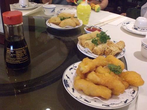 Delicious fried calamari at Empress Pavillion in Chinatown.