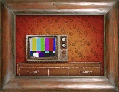 TV Painting Framed Sm