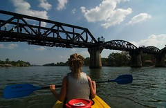Kayak Under the Bridge Over the River Kwai