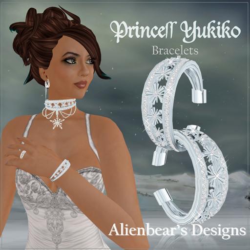 Princess Yukiko bracelace white