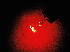 Red light (PegaPPP) Tags: light red lamp bulb rosso luce lampada pega lampadina filamento incandescente colourartaward