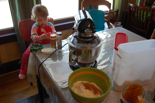 Making Gingerbread Men with mom