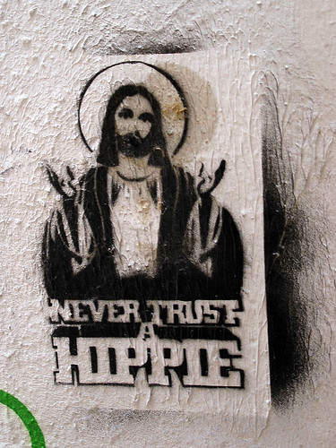 «Never trust a hippie» by Pedro Estevão, on Flickr