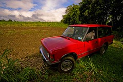 Rover (Bernie Led) Tags: blue trees red brown green cane estate earth 4wd rover sugar lipa soil plantation farms range katigbak