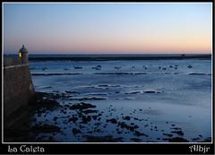 Mar Azul (cádiz) (Alberto Jiménez Rey) Tags: santa blue sunset sea sol beach water azul de la mar catalina agua cybershot playa alberto rey lucia puesta martinez castillo caleta tapia jimenez dsct200