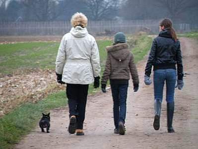 the girls walking