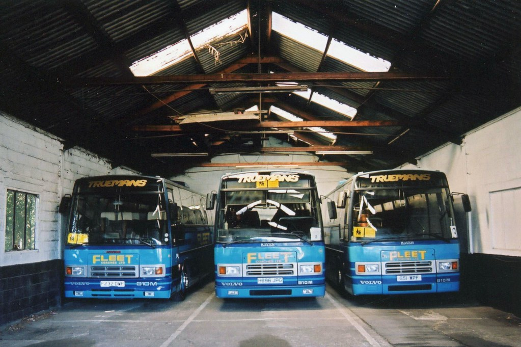 Inside the Fleet Coaches depot
