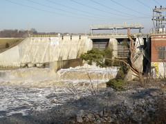 Oakdale Dam (Hammer51012) Tags: geotagged indiana olympus monticello tippecanoeriver carrollcounty nipsco lakefreeman oakdaledam sp570uz