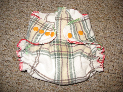 cloth diaper closed up