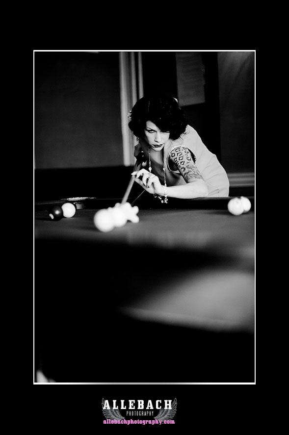 Billards Playing Flapper by Allebach Photography