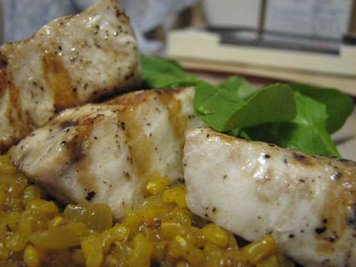 swordfish and lemon rice