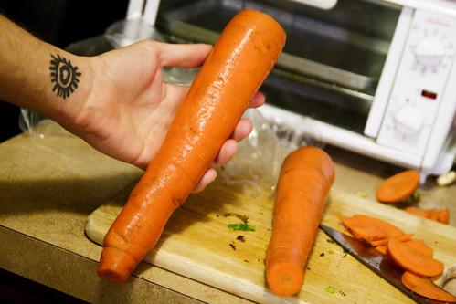 A huge ass carrot