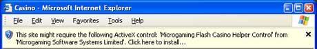Instant slots for Internet Explorer