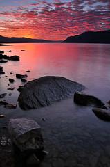 Night Before Landon [3] (Michael Bollino) Tags: sunset sky color reflection nature water rock clouds oregon river evening sundown northwest display columbiariver gorge columbiarivergorge landon d300 bej michaelbollino