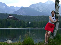 Strbske Pleso (Martin Ystenes - http://hei.cc) Tags: woman mountain lake mountains tree green nature god skirt slovakia birch 1001nights miniskirt patria tatra redskirt cleanair strbskepleso concordians flickrestrellas worldtrekker ystenes mallmixstaraward worldtreekker savebeautifulearth martinystenes