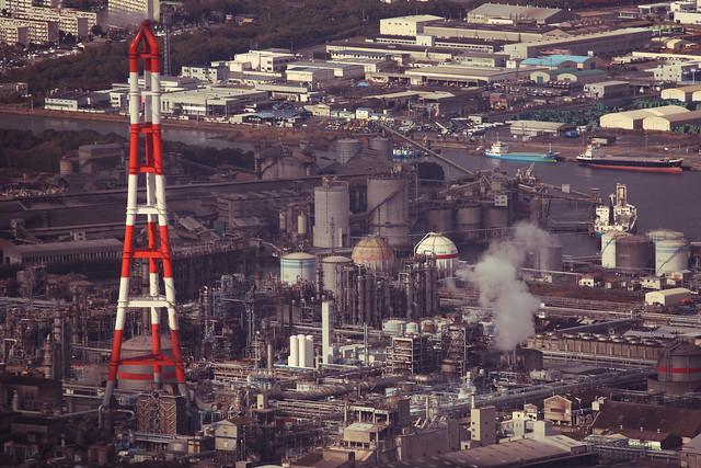 工業地帯の日常風景